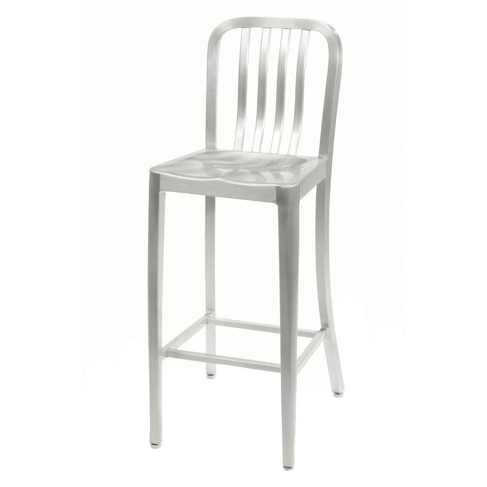 Home Decorators Collection Sandra 30 In Brushed Aluminum Bar Stool