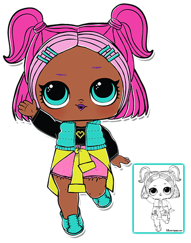 V R Q T Lol Surprise Doll Series 3 Coloring Page Lol Dolls Free Coloring Pages Doll Party