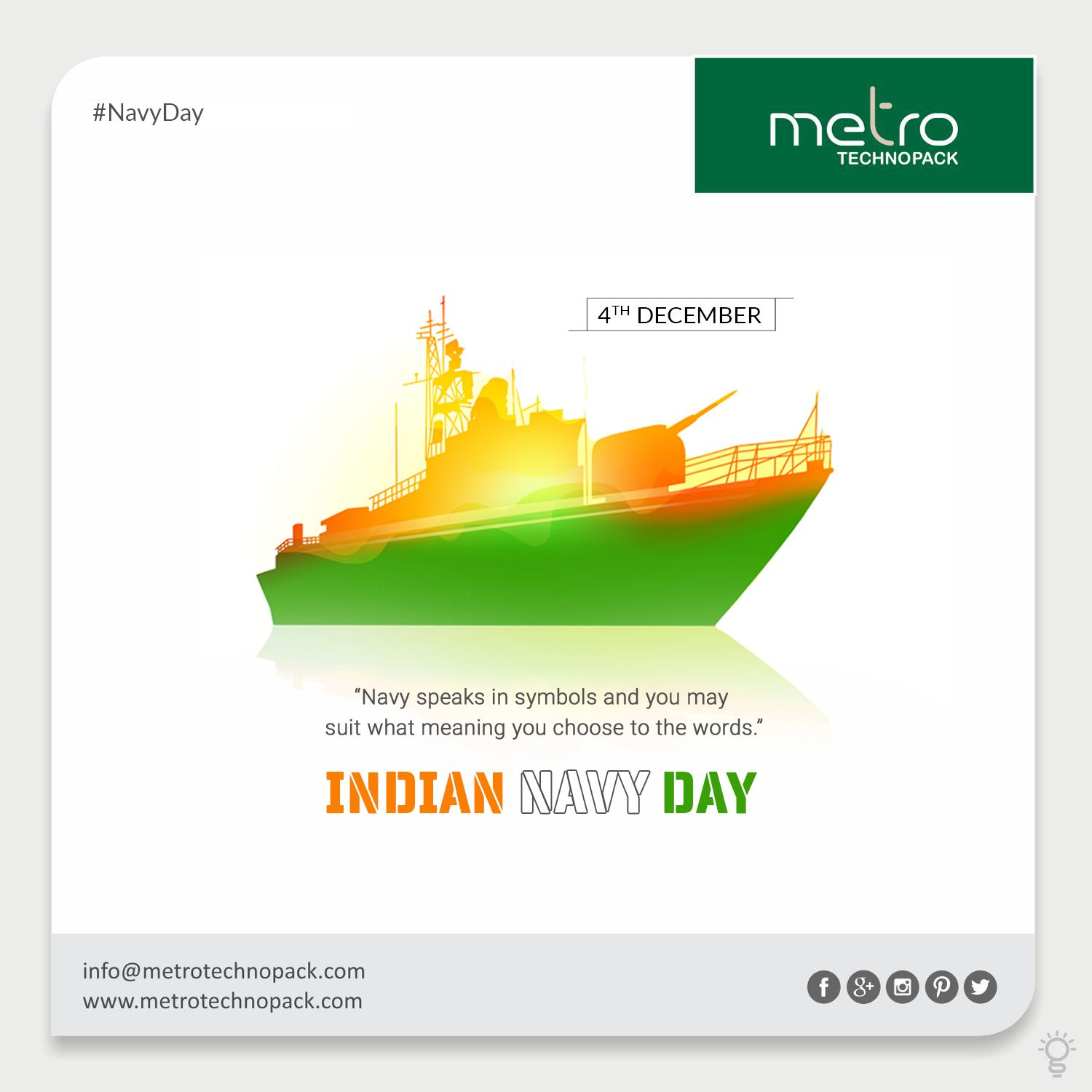 Navy Speaks In Symbols And You May Suit What Meaning You Choose To The Words Navyday Indiannavyday Navyd Indian Navy Day Navy Day Poster Background Design