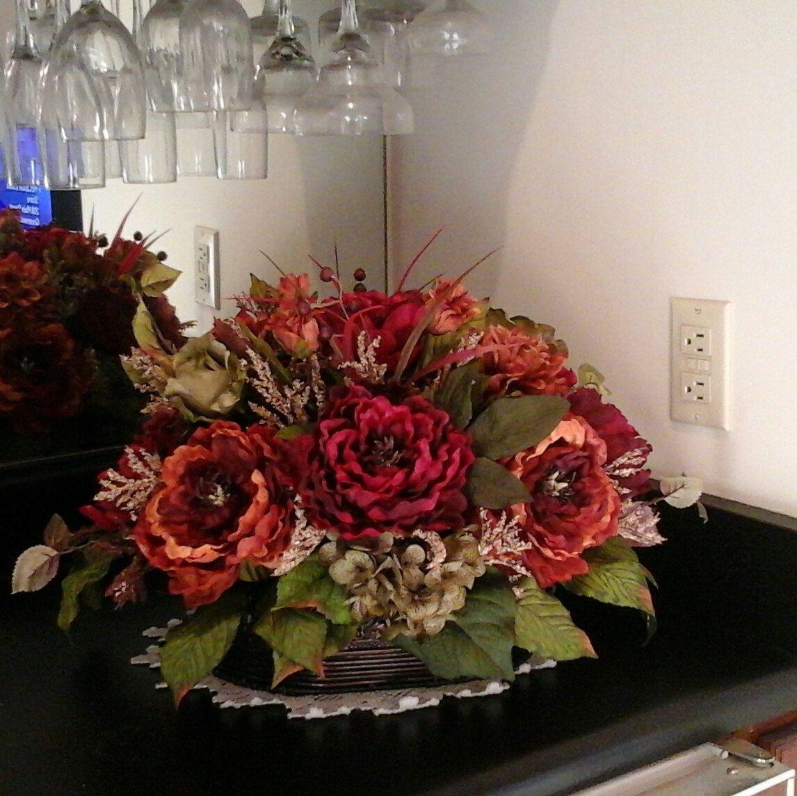 Admirable Floral Arrangement Elegant Tuscan Silk Floral Centerpiece Download Free Architecture Designs Jebrpmadebymaigaardcom