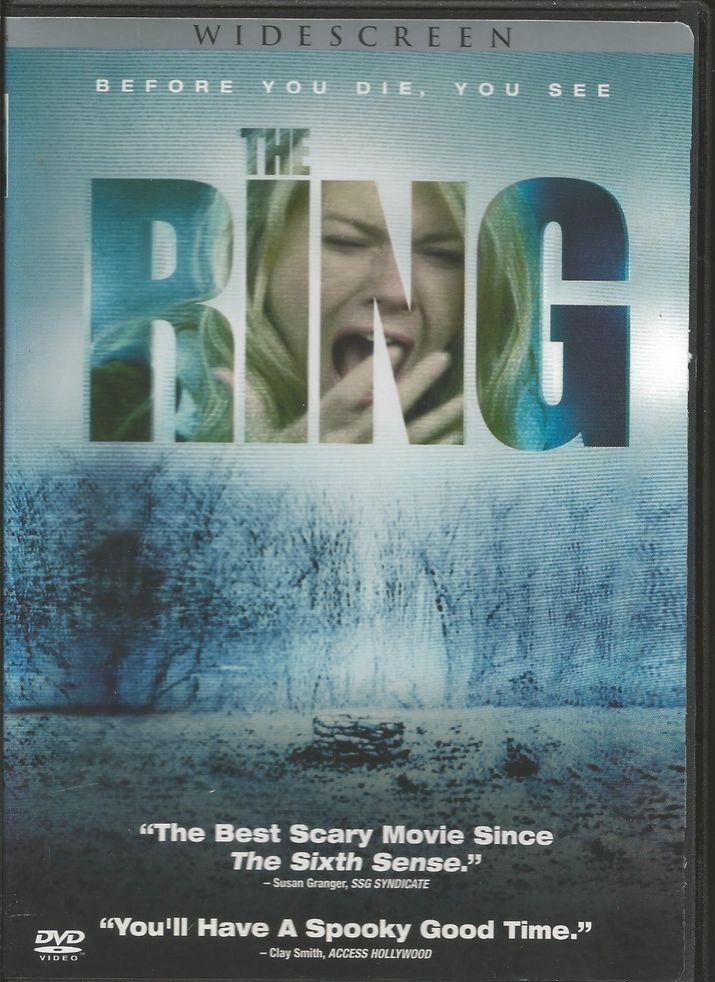 The Ring Widescreen Movie DVD Used A young journalist must investigate a  mysterious videotape which seems to cause the death of anyone in a week of  viewing ...