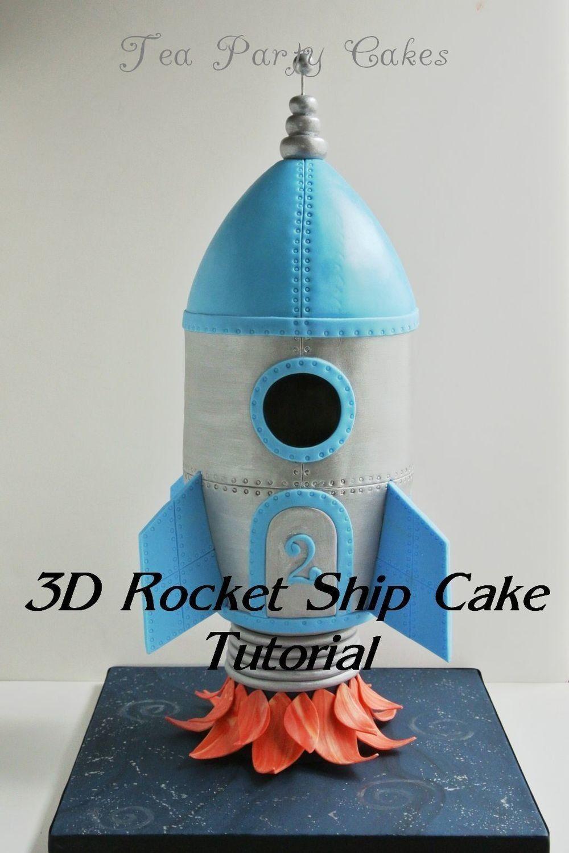 rocket ship cake template