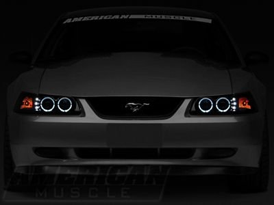 raxiom mustang smoked projector headlights dual led halo 49113 99 04 all projector headlights ford mustang v6 mustang projector headlights ford mustang v6