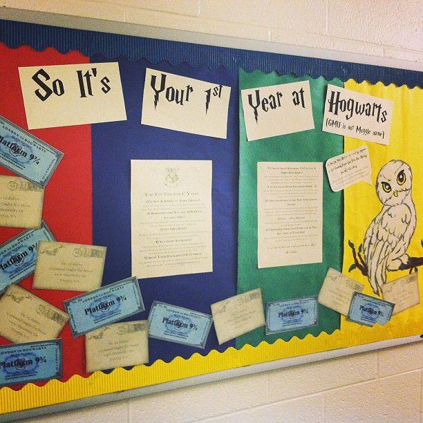 Harry Potter Themed Bulletin Board Ra Ideas Res Life