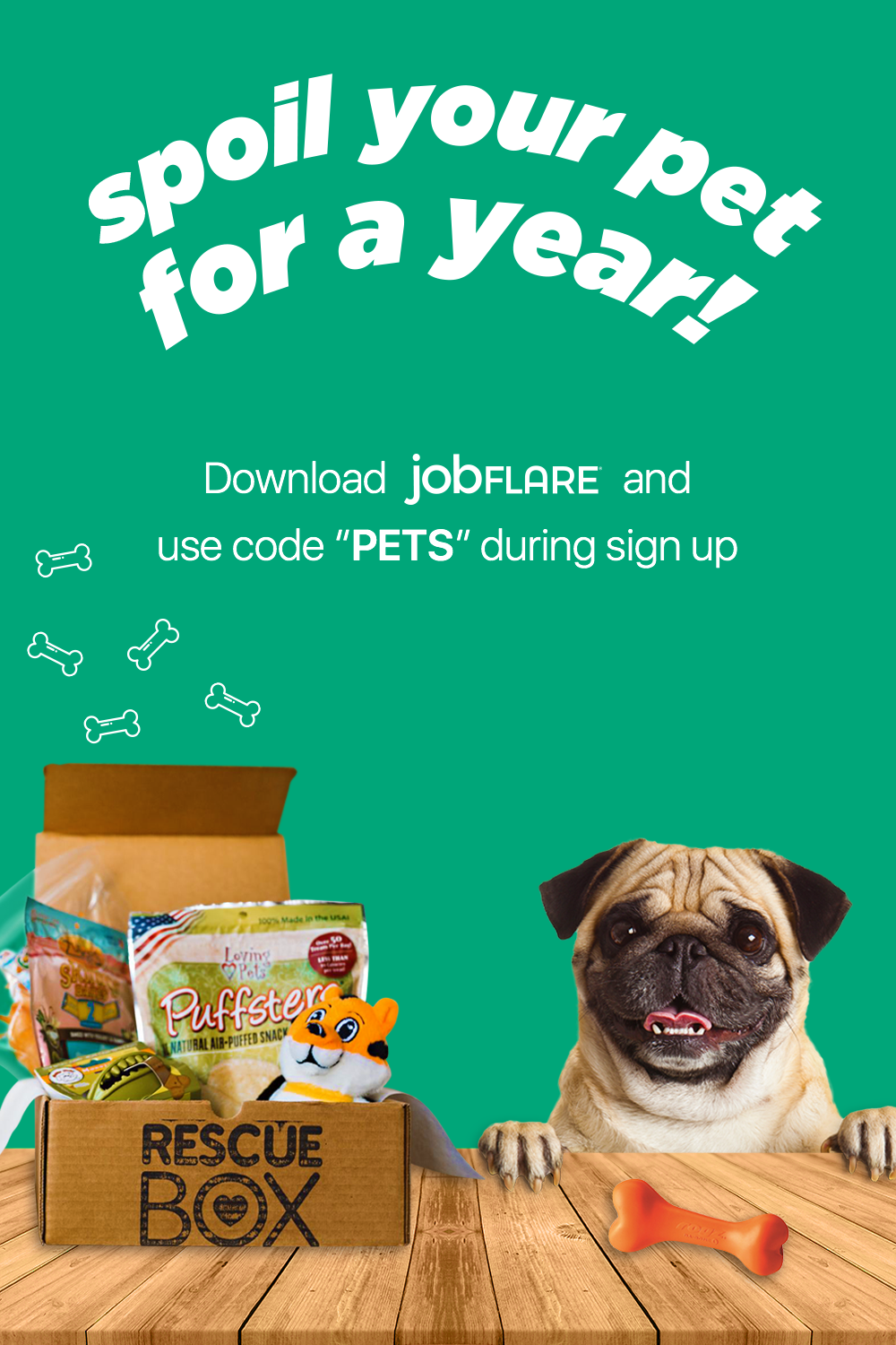Spoil Your Pet With Rescuebox And Help Shelter Pets At The Same Time To Enter 1 Download Jobflare With Images Job Posting Tech Career Interview Thank You Notes