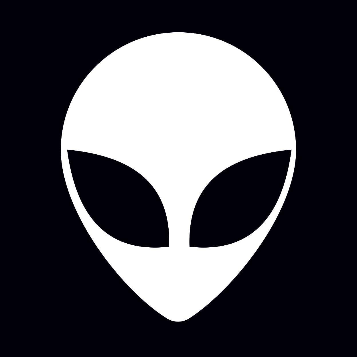 Alien Grey Head Stencil