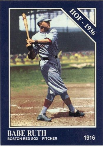 Babe Ruth Baseball Card | vintage mlb | Baseball card ...