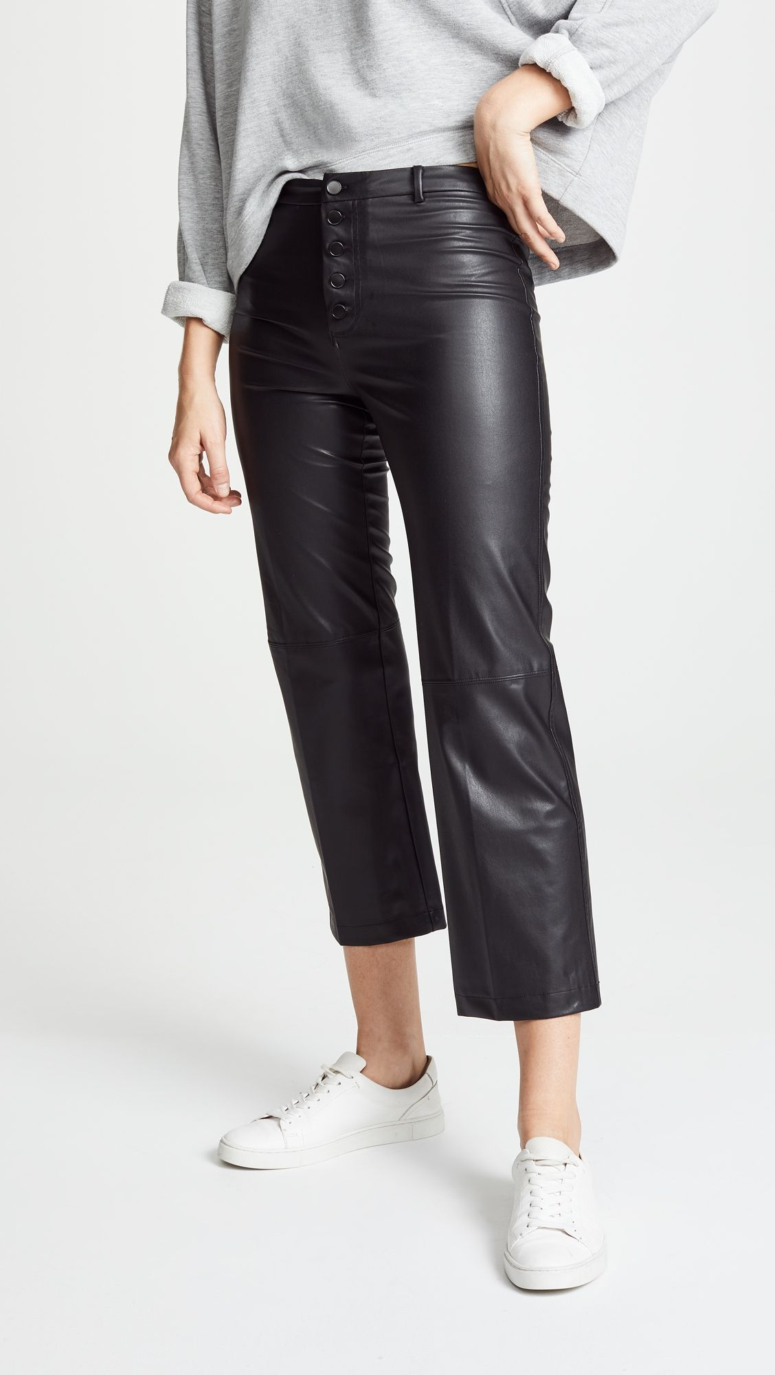 5ef8f29eb2af1 Faux Leather High Rise Pants | Products | High rise pants, Pants ...