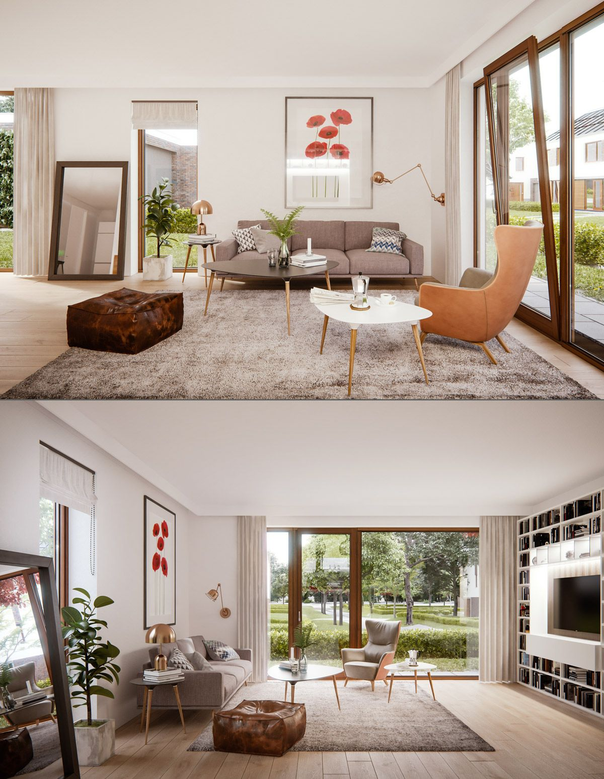 30 Mesmerizing Mid-Century Modern Living Rooms And Their Design ...