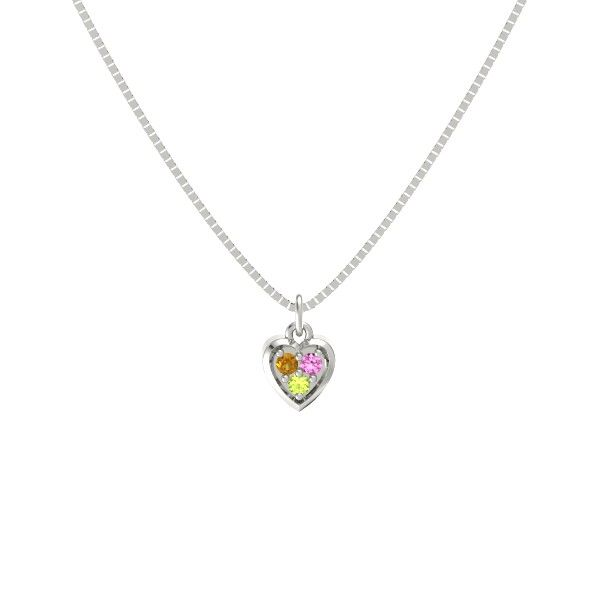 Round peridot sterling silver necklace with citrine pink sapphire round peridot sterling silver necklace with citrine pink sapphire anytime heart pendant gemvara mozeypictures Image collections