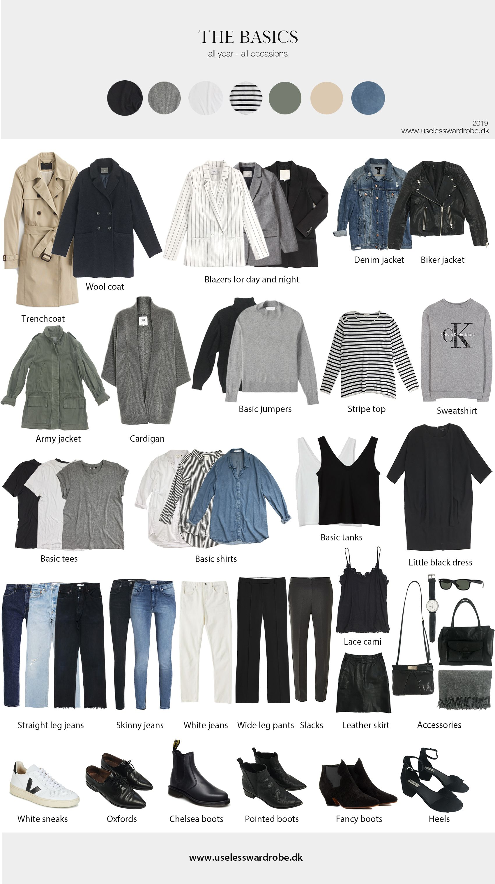 My current capsule: spring 2019. #travelwardrobesummer