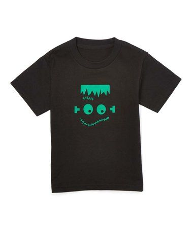This Black & Green Monster Face Short-Sleeve Tee - Toddler & Kids is perfect! #zulilyfinds