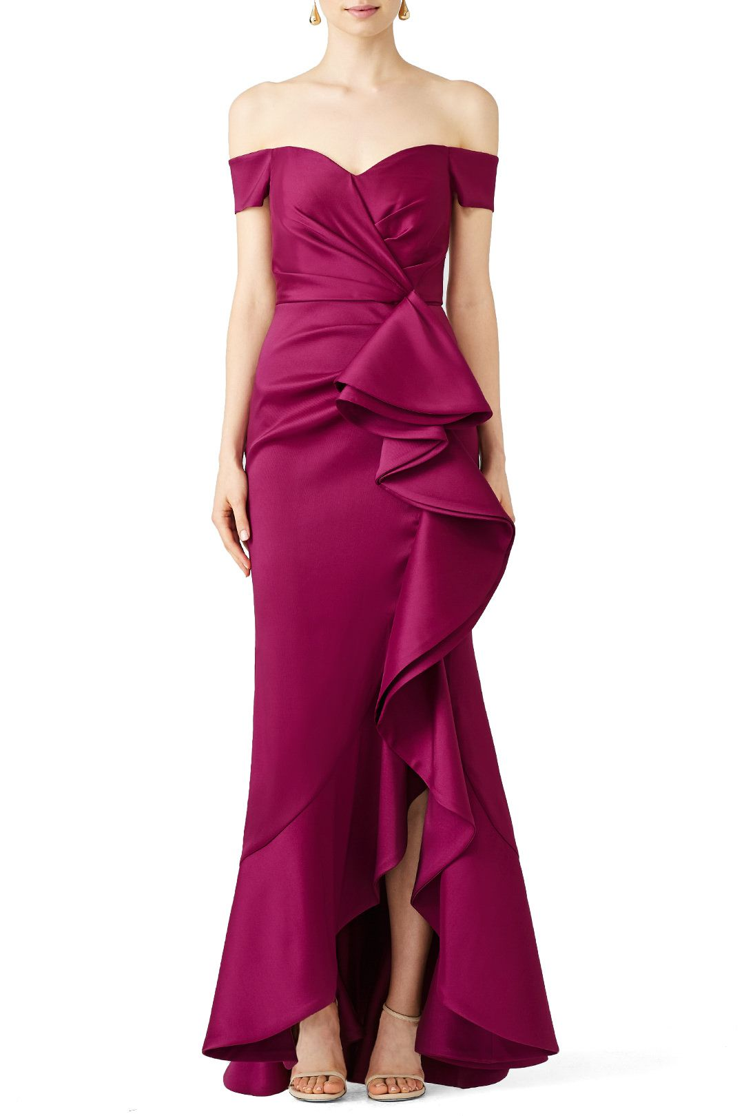 685e80c943a Rent Sangria Ruffle Gown by Badgley Mischka for  140 only at Rent the  Runway.