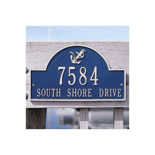 Beautiful Frontgate Anchor Arch Wall Plaque ($99) ❤ Liked On Polyvore Featuring Home,  Outdoors, Outdoor Decor, Mailboxes U0026 House Plaques, Outdoor Enhancements,  ...