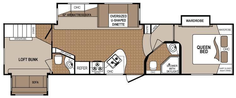 2 Bedroom 5th Wheel Floor Plans Google Search Rv Floor Plans Travel Trailer Floor Plans Diy Tiny House