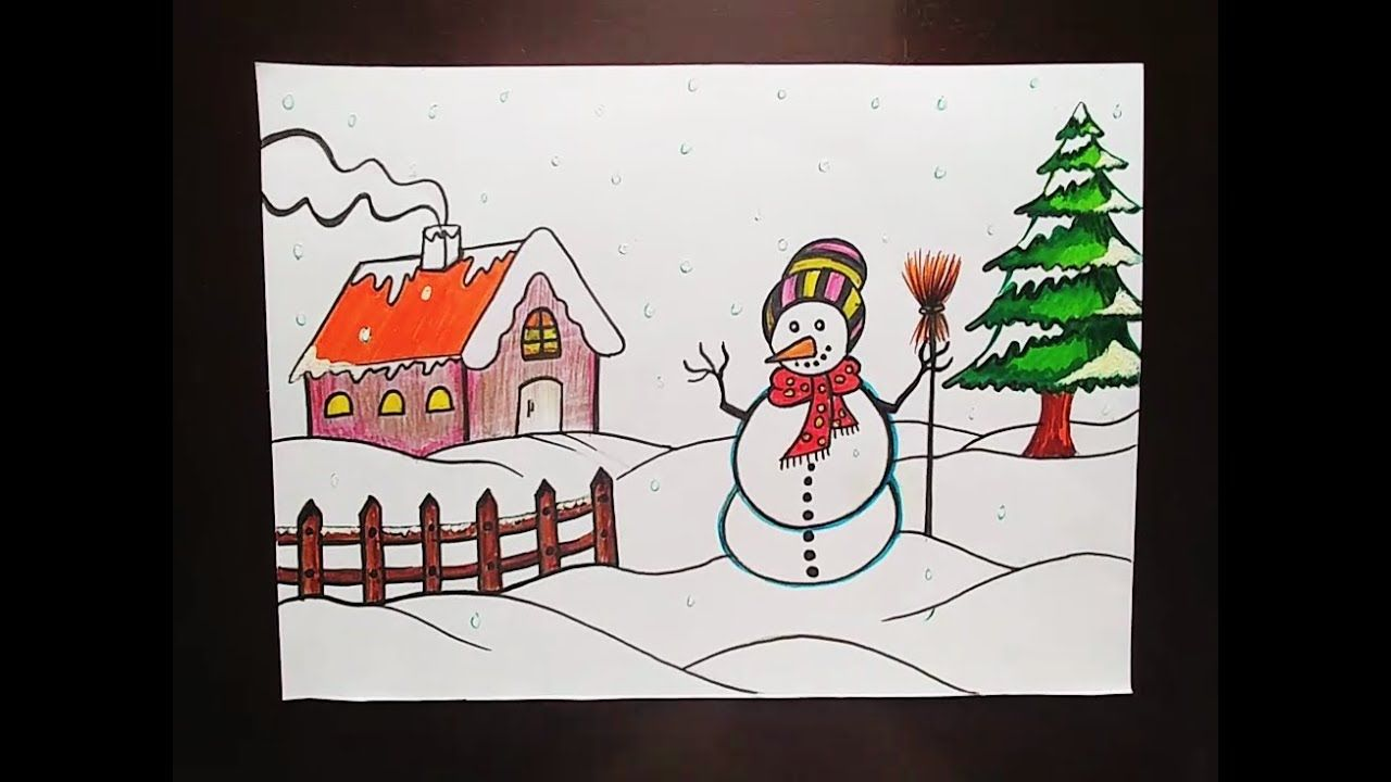 Winter Pictures To Draw