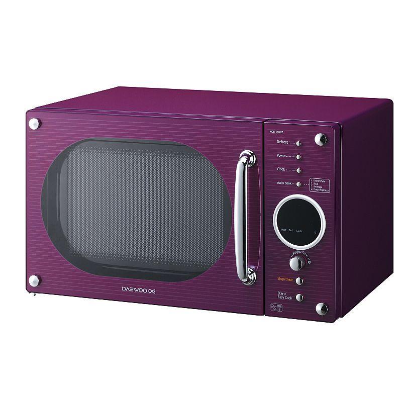Daewoo Kor6n9rp 20 Litre Microwave Purple Microwaves Asda Direct