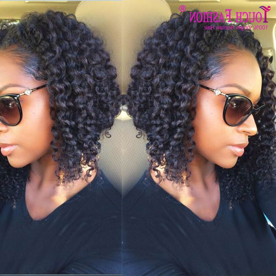 Curly Bob Hairstyles For Black Hair Weave Short