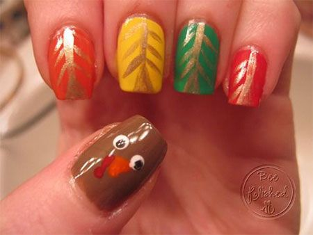 18 Turkey Nail Art Designs Ideas 2016 Thanksgiving Nails 16 Beauty