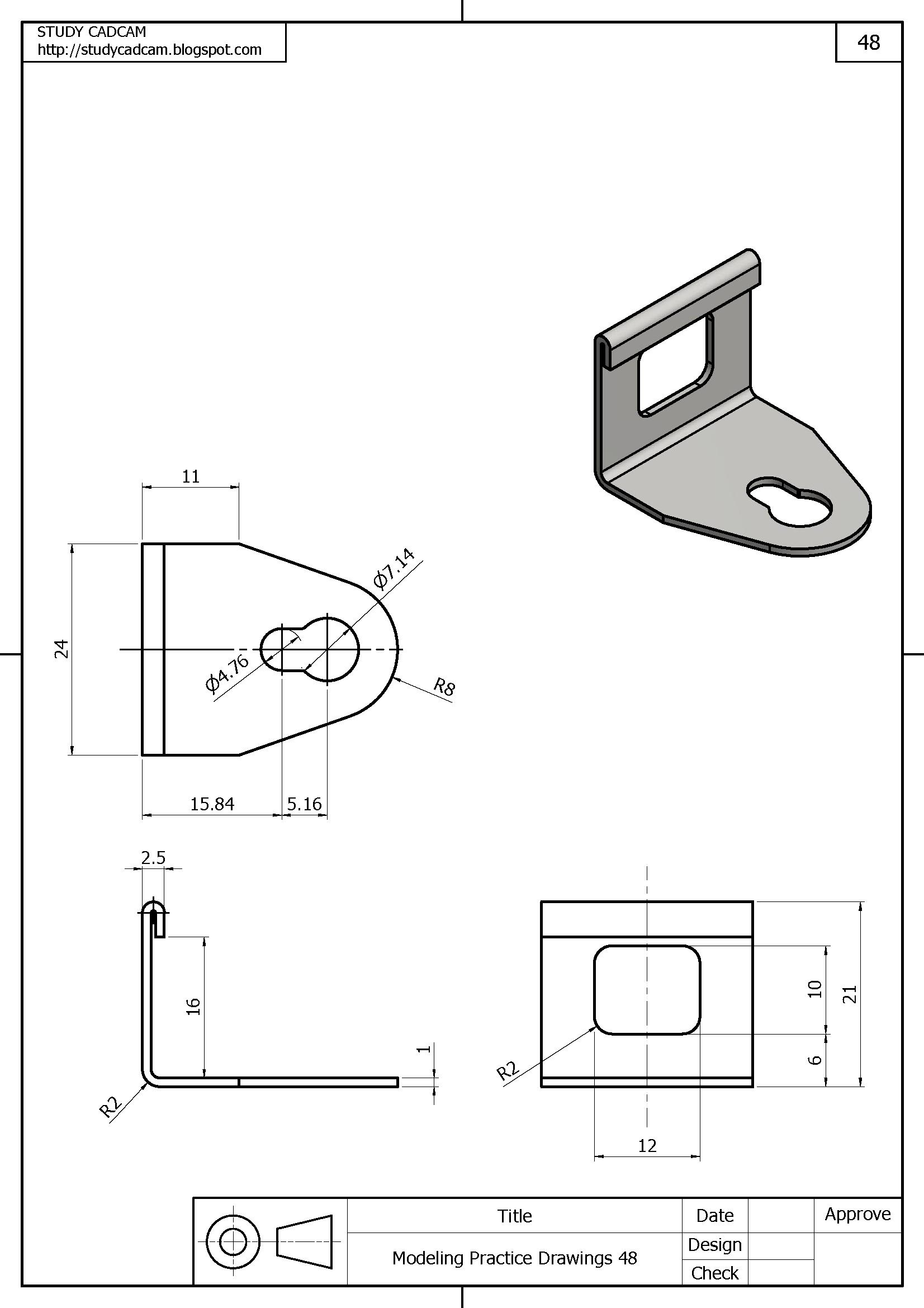 Pin By Droszczak On 3d Modeling Practice Sheet Metal Drawing Drawing Sheet Technical Drawing