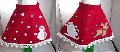 Ugly Adorable Christmas Sweater Skirt Toddler Size 2T/3T Santa Reindeer