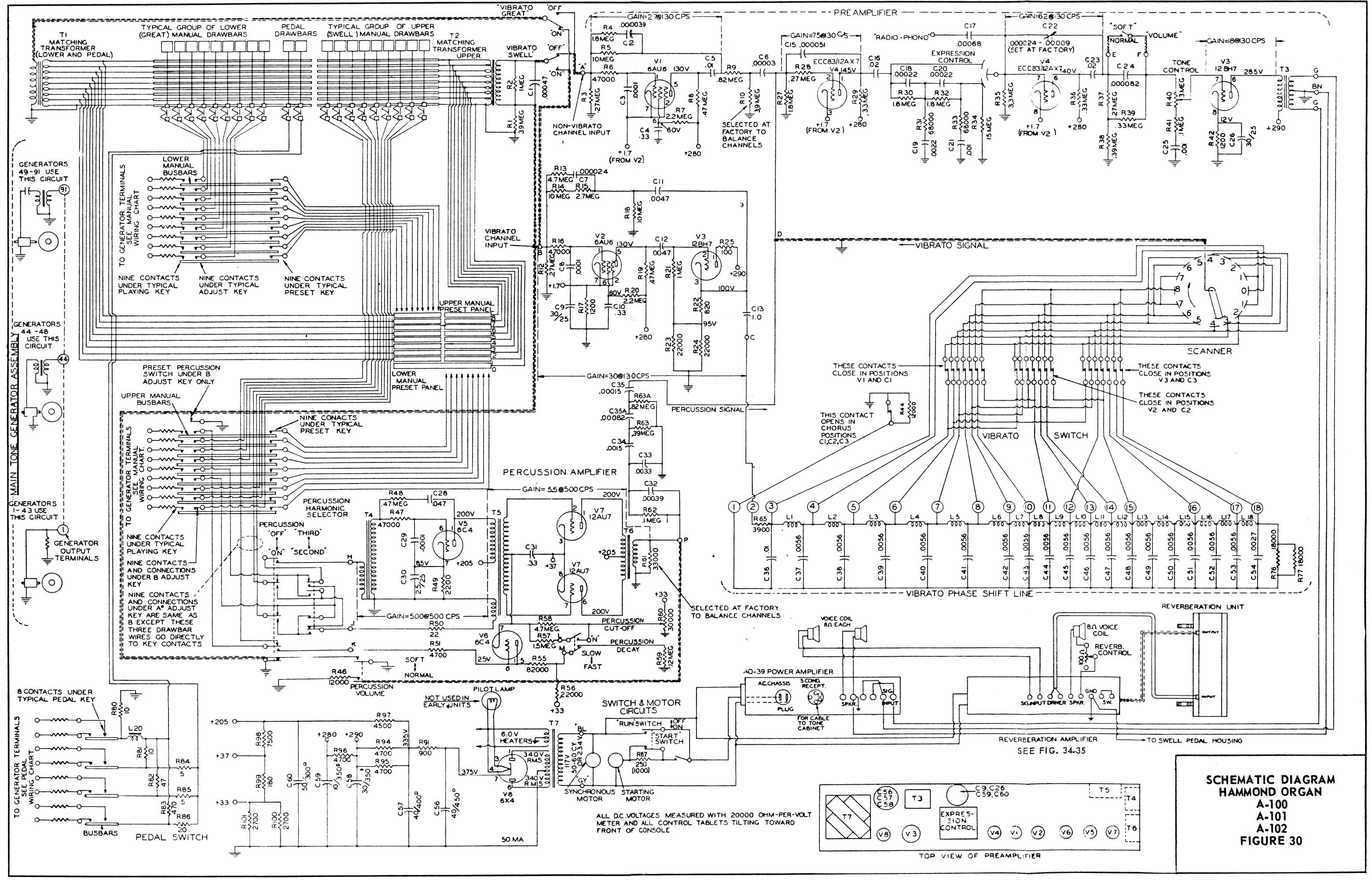 Hammond Organ Schematic | Toys | Hammond an, Organ