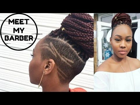 Meet My Barber Box Braids With Shaved Sides On Natural