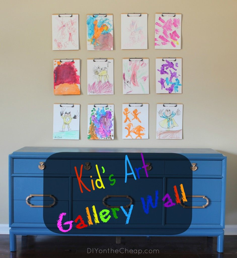 Kid's Art Gallery Wall with Crayola | Kids Crafts ...