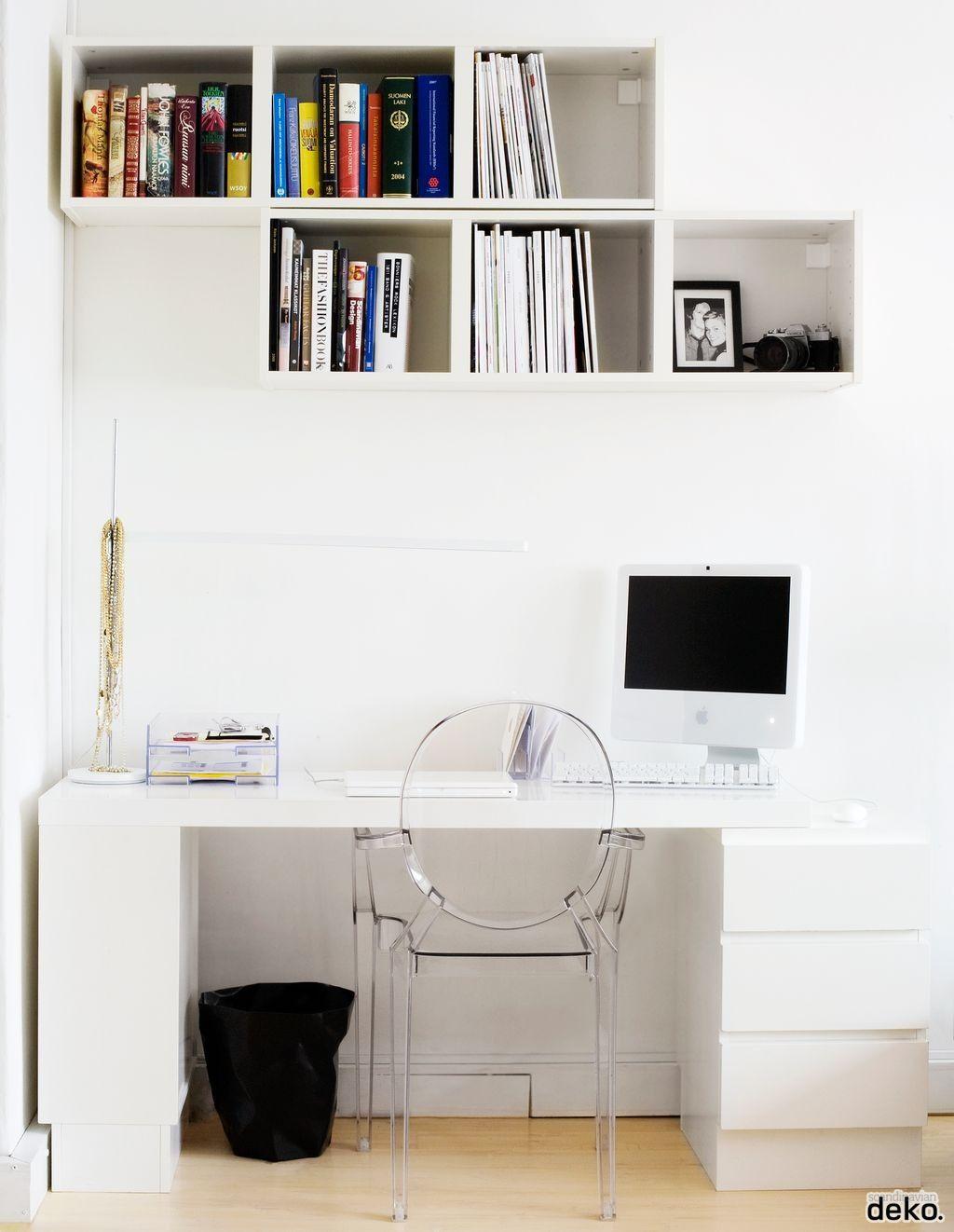office wall shelving. Via Scandinavian Deko | Office Kartell Chair White · Interior OfficeWall ShelvesShelvingOffice Wall Shelving I