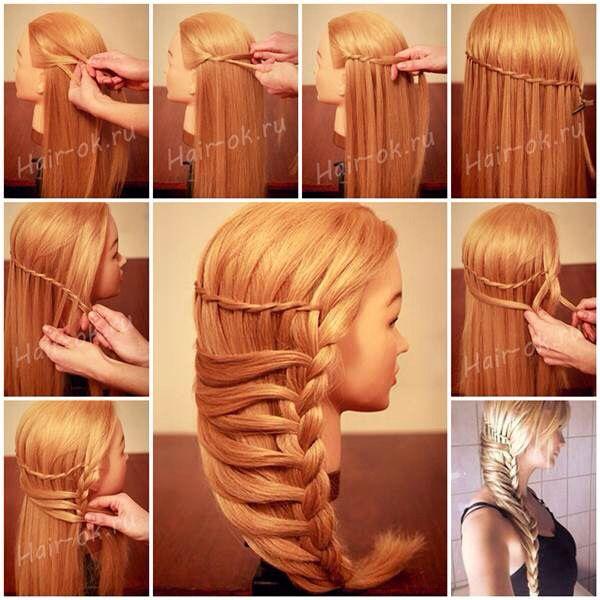 Stylish hair braid.