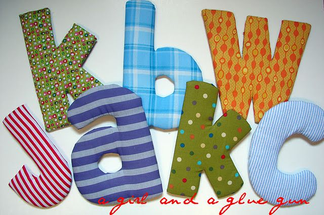 Puffy Letters Crafts Fabric Covered Letters Letter A Crafts