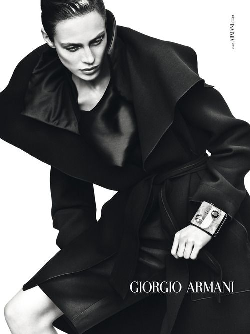 Aymeline Valade by Mert & Marcus for Giorgio Armani Fall / Winter 2012/13 Campaign