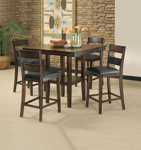 Pendleton 5 Piece Dining Room Set Furniture Counter