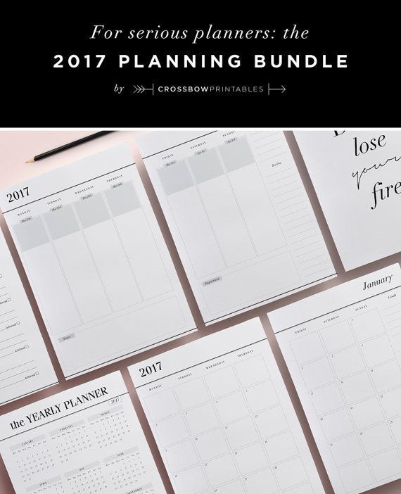 Planner Printable Inserts  Diary And Calendar Yearly
