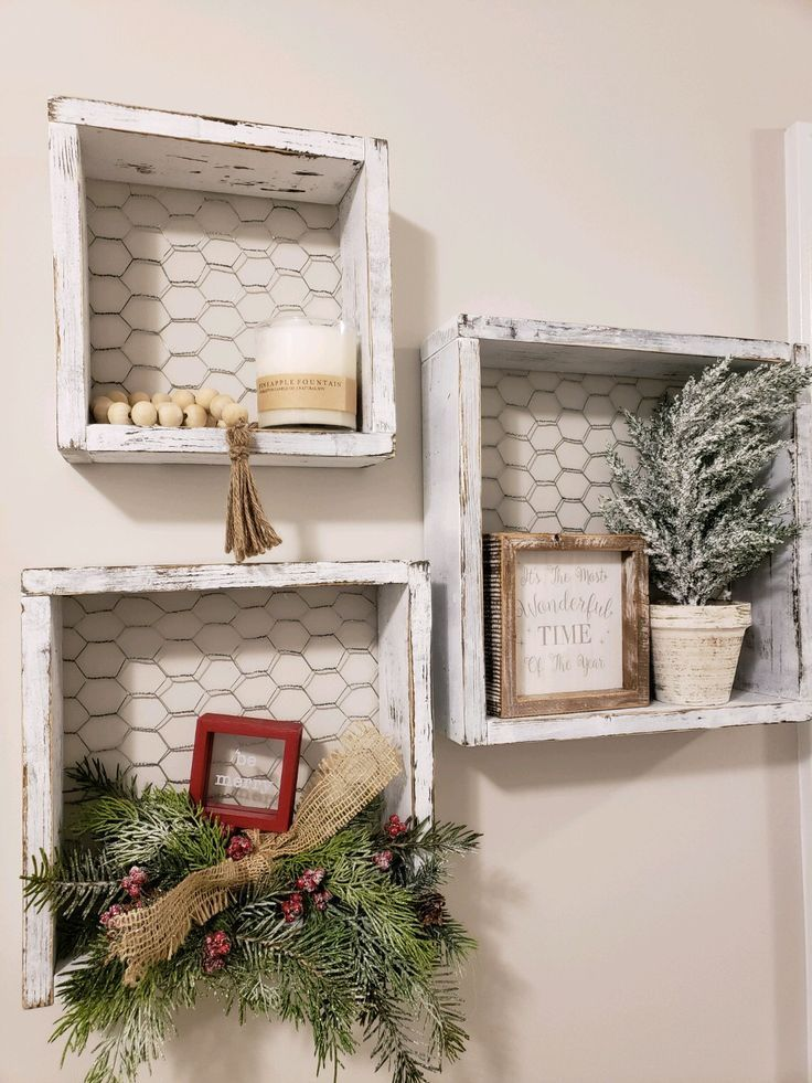 Photo of How cute are these shelves !?! – #Cute #farmhousedecor #Shelves