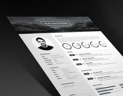 Mono Resume is a bold, dynamic and professional resume template