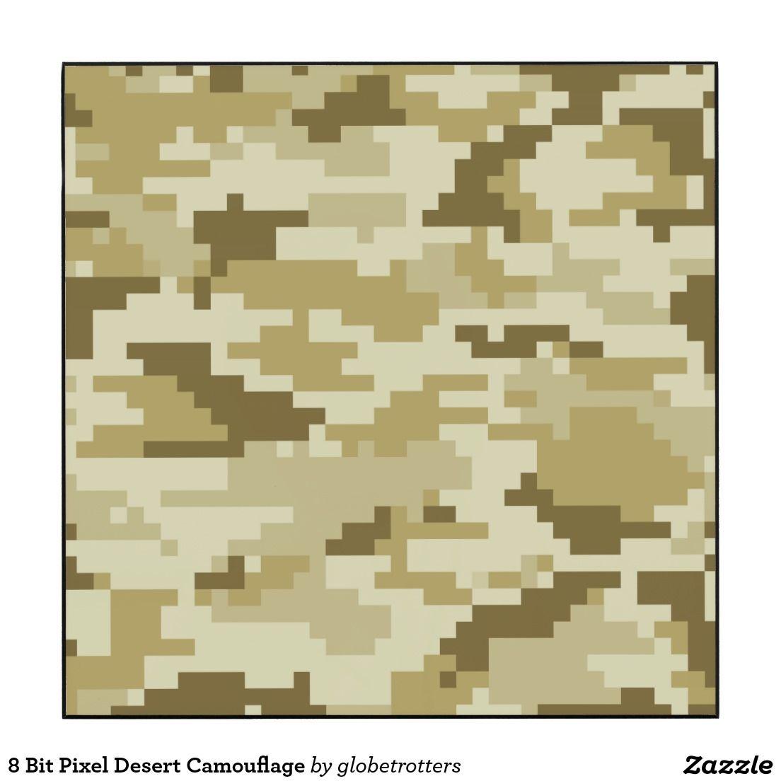 8 Bit Pixel Desert Camouflage / Camo Wood Print | Camouflage, Wood ...