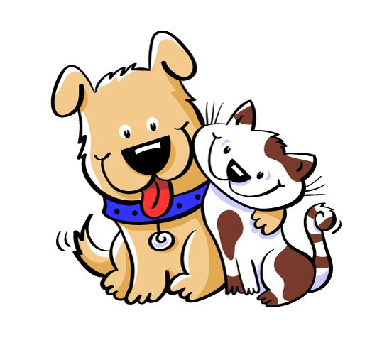 Image result for cat and dog clipart