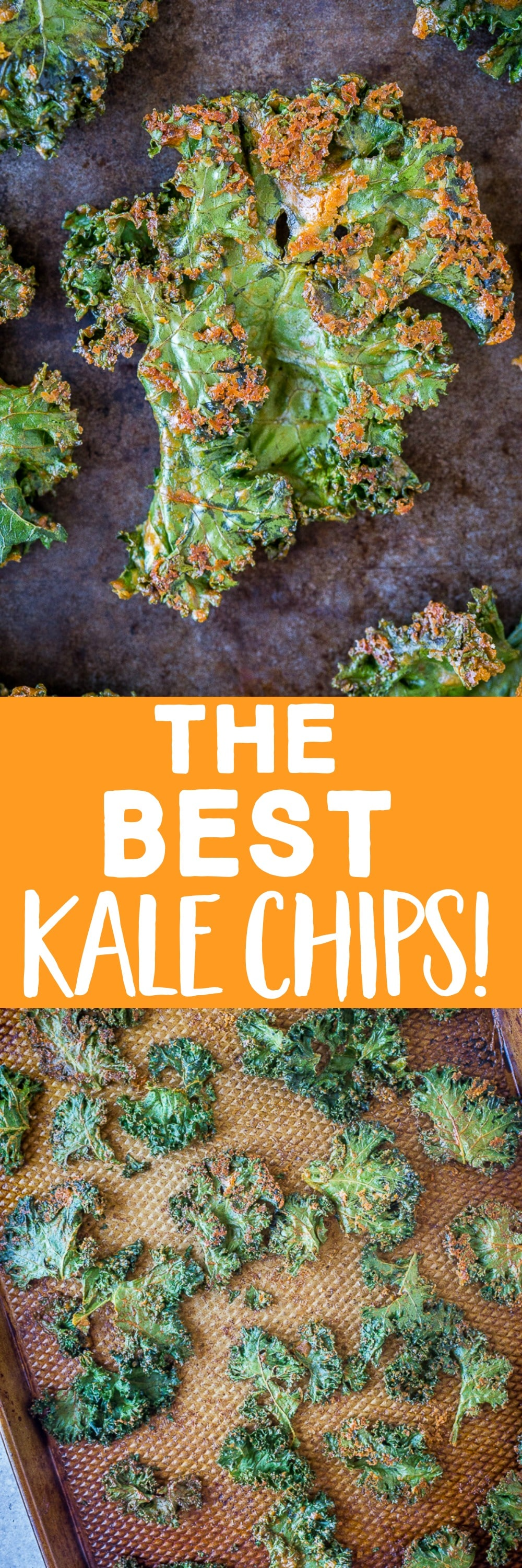 really are the BEST Kale Chips! They're crispy, flavorful and I'm certain they will turn any kale hater into a kale chip lover! They're baked in the oven and perfect for a healthy snack that even kids enjoy!