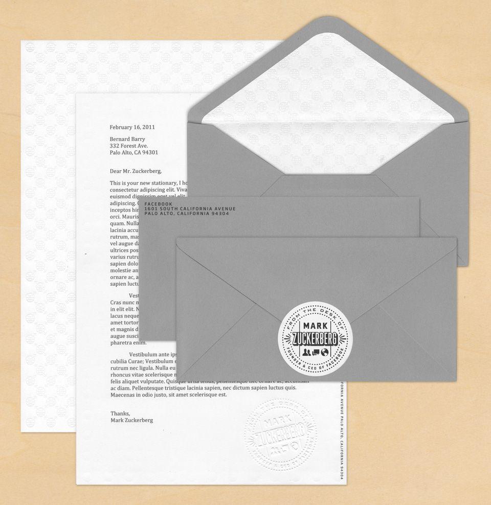 Mark Zuckerberg\'s Stationery | The Design Portfolio of Ben Barry ...