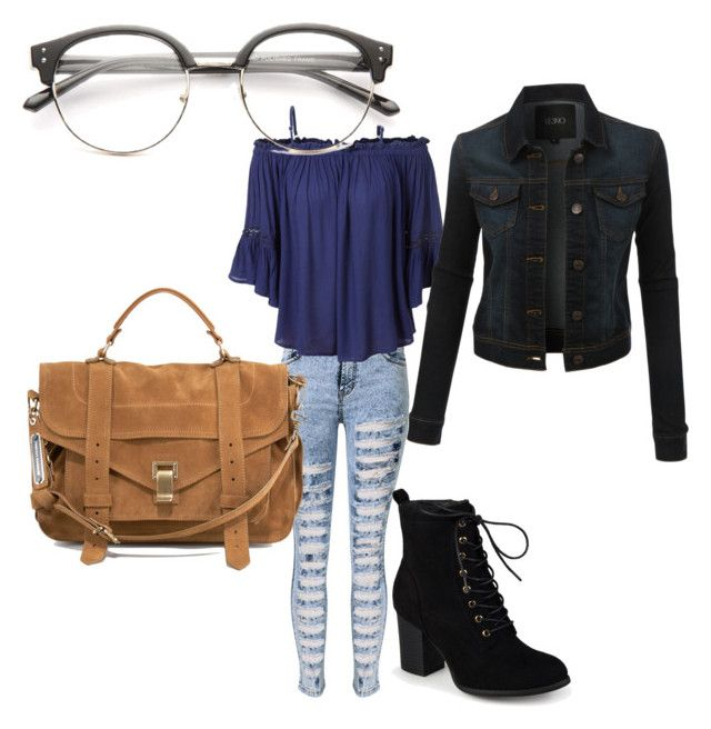 """""""Untitled #60"""" by smileyhearts19 on Polyvore featuring LE3NO, Journee Collection and Proenza Schouler"""