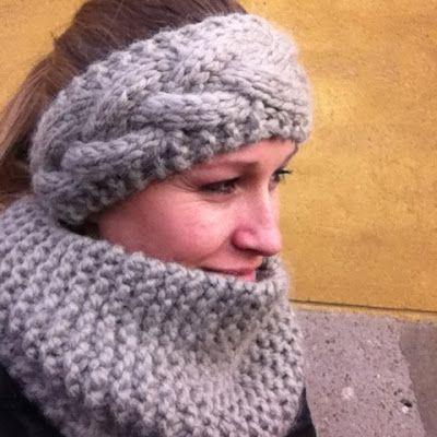 Design by Dalkær: Opskrift på strikket pandebånd og halsedisse