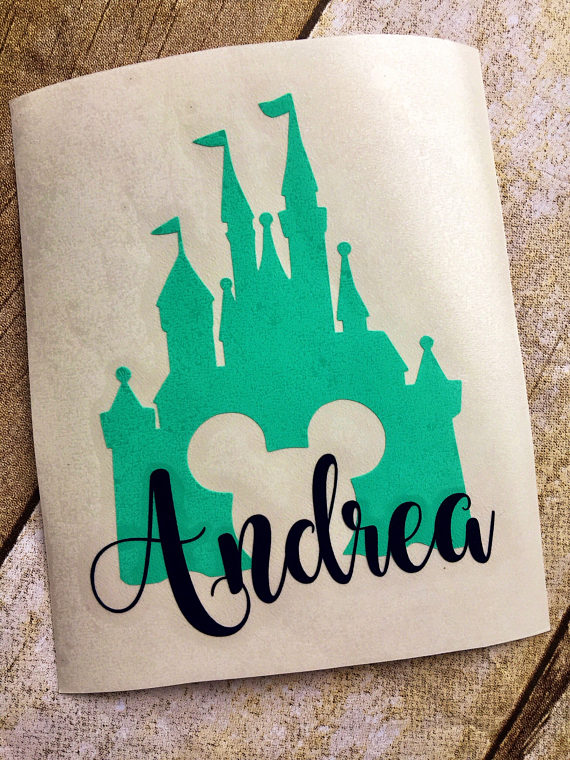 Disney Castle Decal Disney Inspired Decal Name Decal