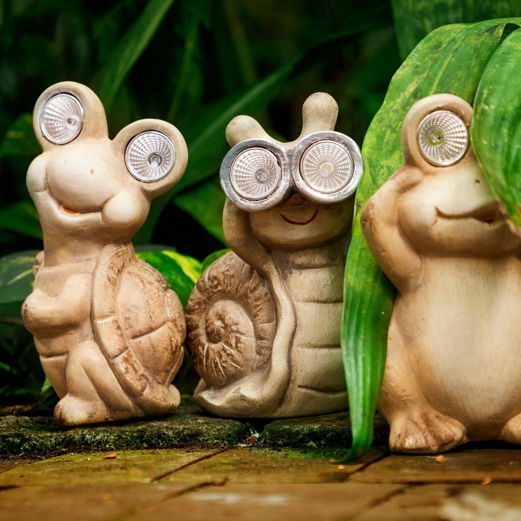 Solar Tiere Fur Den Garten Balkon Nanu Nana Licht In Der Dunkelheit Figur Deko Vogel