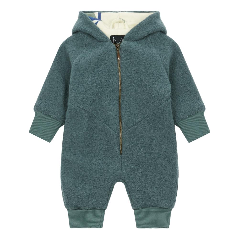 Silver Pine Organic Cotton Merino Wool Snowsuit Grey Blue Monkind Snow Suit Baby Coats Girl Girl Coat