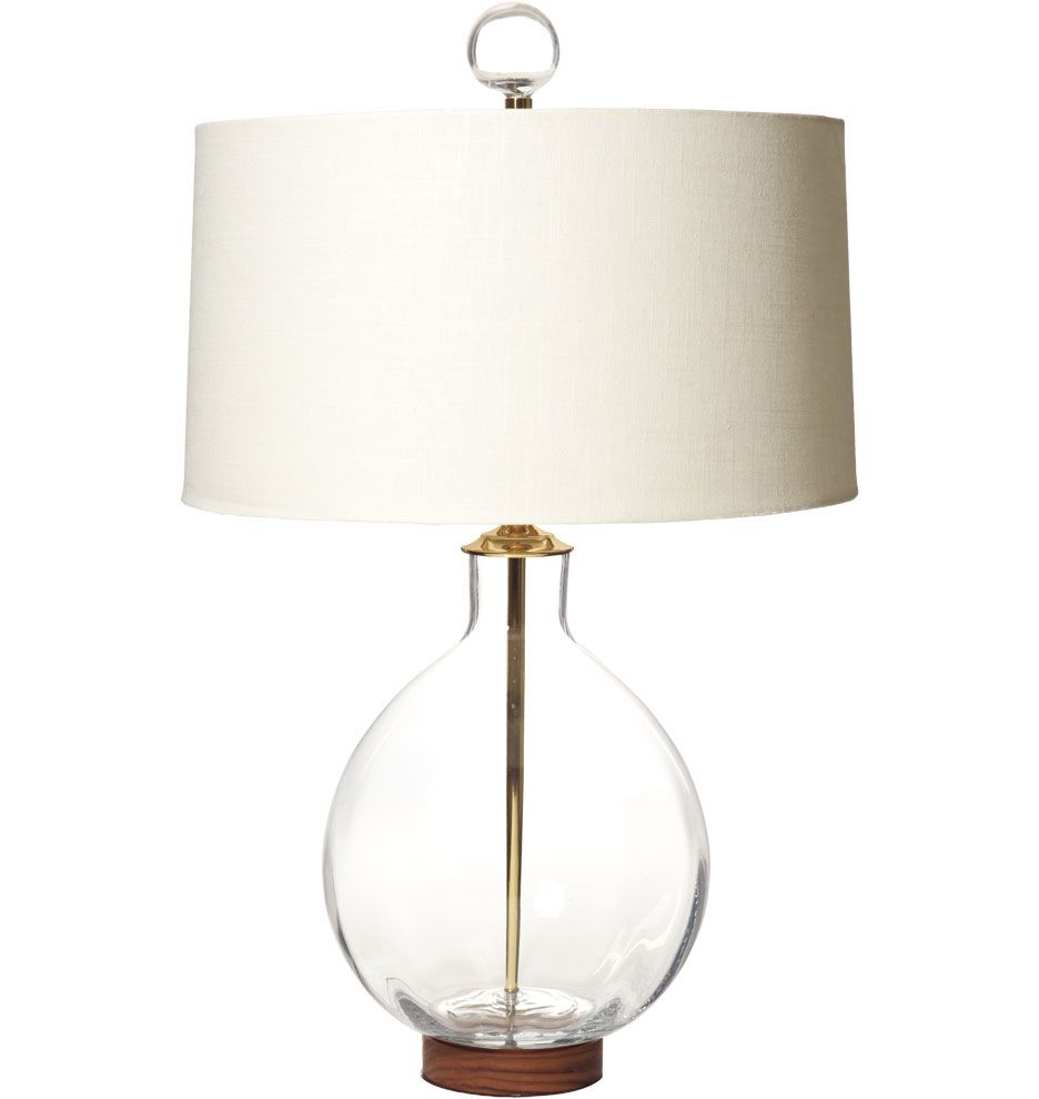 Rejuvenation   Clear Round Table Lamp: Blenko Handblown ...