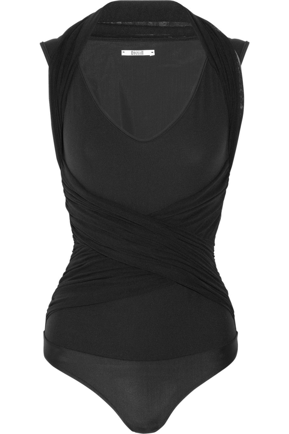 Wolford|Crazy Tulle and stretch-jersey thong bodysuit|NET-A-PORTER.COM