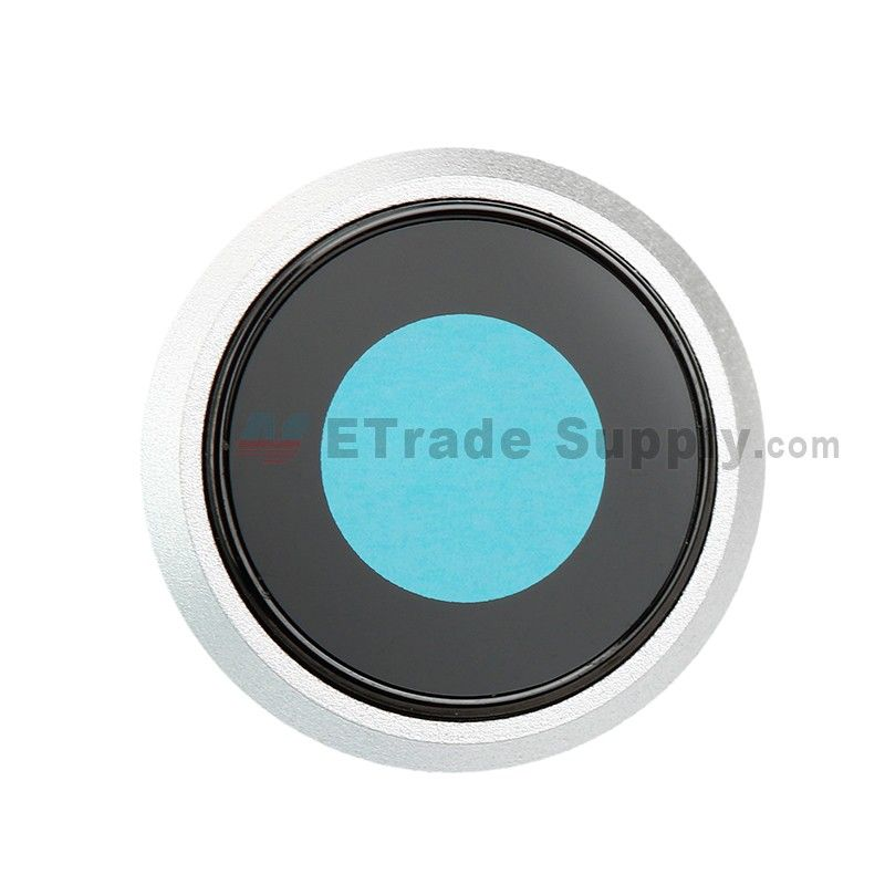 wholesale dealer a7ad1 a9b87 For Apple iPhone 8 Camera Lens with Bezel Replacement - Silver ...