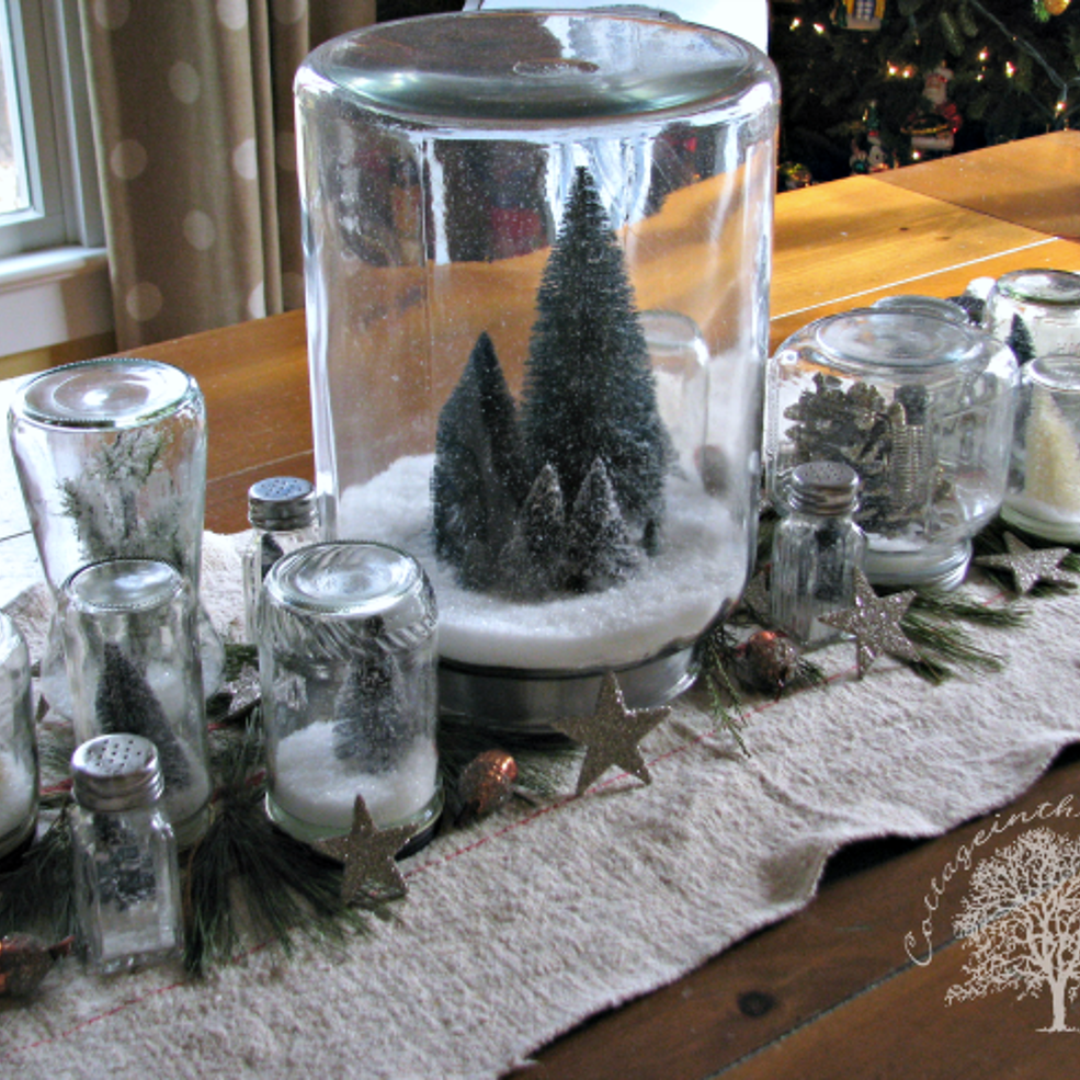 Diy Snow Globe Centerpiece Snow Globes Diy Snow Globe Christmas Diy
