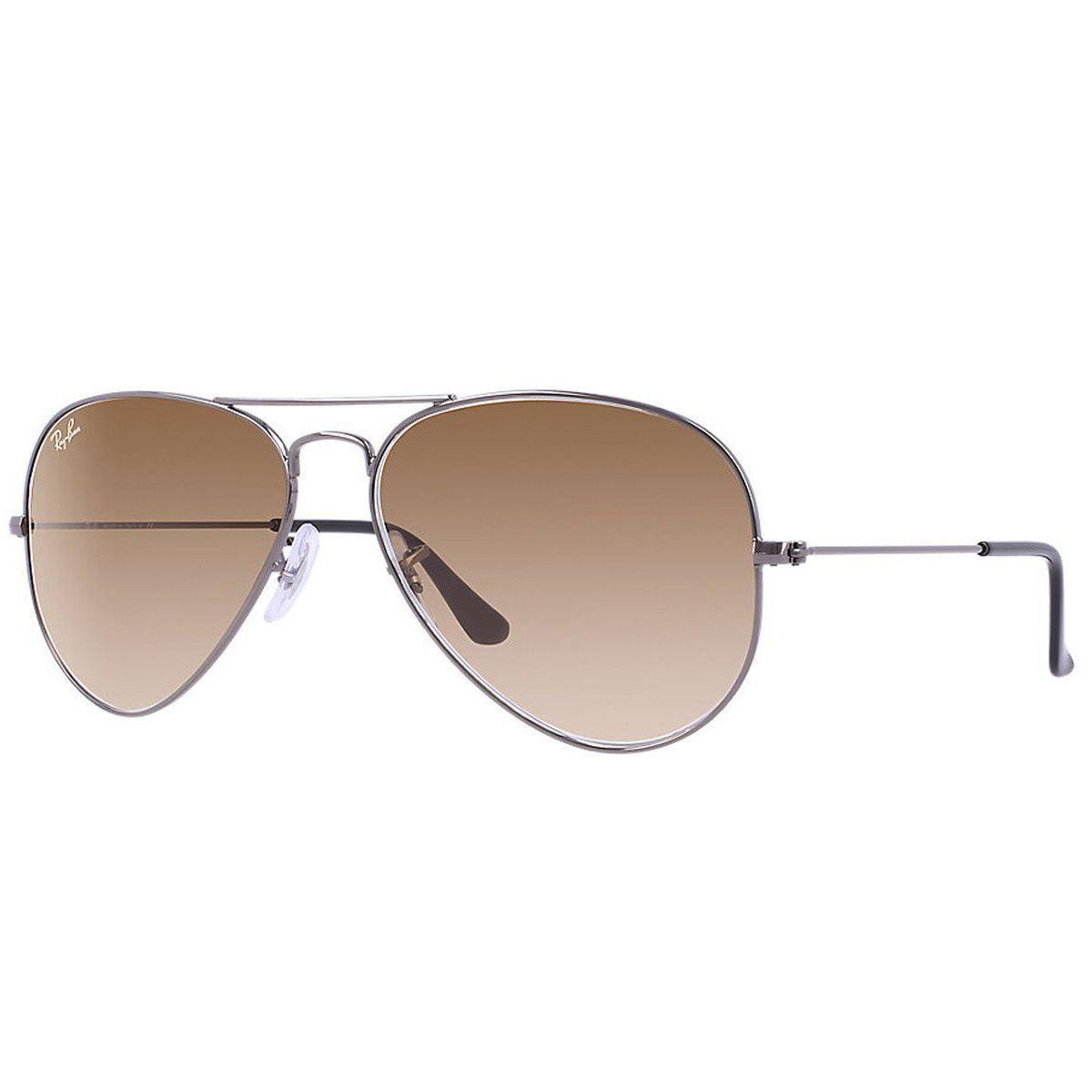 5270b235126e8a Ray-Ban RB 3025 004-51 55 Men s Aviator Gunmetal Metal Frame Light Brown  Gradient Lenses Sunglass